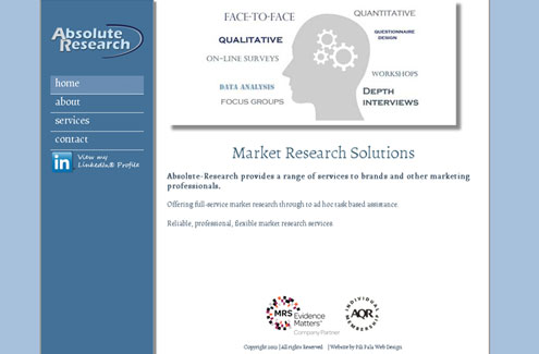 Absolute Research website